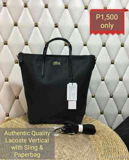 L acoste Vertical Authentic Quality with paperbag
