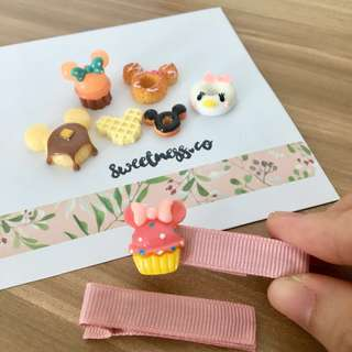 Customisable hair clips - disney foods