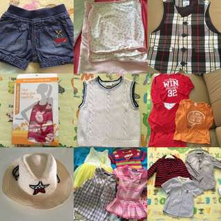 Clearance SALE! Baby to toddlers clothes, hat, breastfeeding cover Burberry H&M