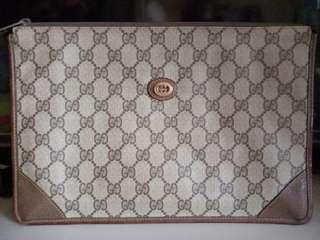 Vintage gucci monogram clutch bag