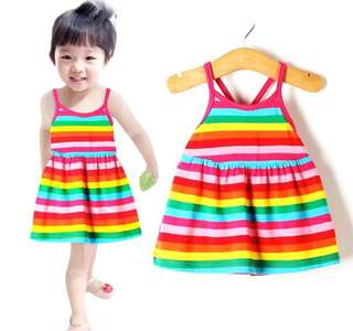 Baby Girl Dress Toddler Rainbow PO