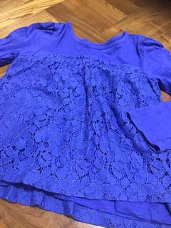 TCP Long-sleeved Lace Blouse