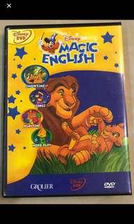Grolier Disney Magic English DVDs