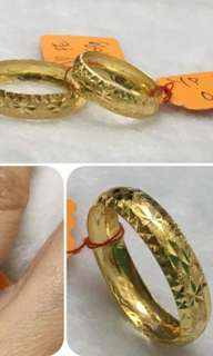 916 Gold Adult Ring Size 8