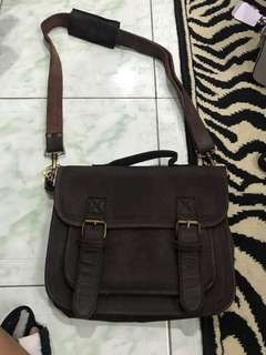 "REPRICED!! ""The Monte"" camel leather satchel bag"