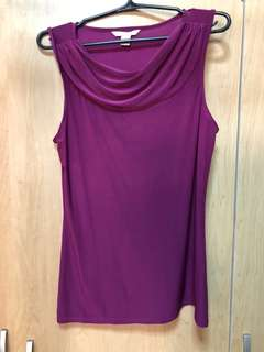 Purple sleeveless top