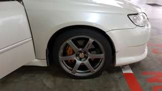 Yokohama AVS Model T6 wheels 18 inch japan rim($3.8k) with 5 months types PCD 5x100(need to swap in with any 17 inch rim with types )