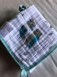 aden+anais 4layers of cotton muslin organic scrub 29cm*29cm