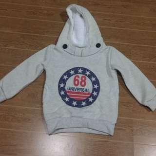 Boy's sweatshirt with hood