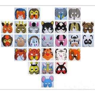 Animal Masks for Children. 12 pcs per set