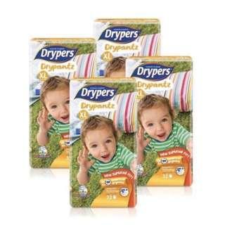 Drypers drypantz xl diapers pants