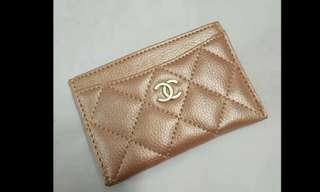 Chanel Card Holder VIP gift 金 香檳金