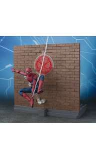 PRE-ORDER: Bandai Tamashii Nations Boys S.H. Figuarts: Marvel Homecoming - Spider-Man with Option Act Wall