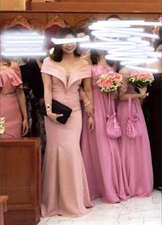 Long gown (nude light pink) For rent and Sale