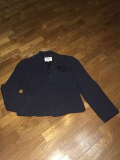 Armani junior dark navy jacket fit young adult too