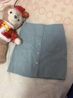 粉嫩麂皮窄裙S#女裝半價
