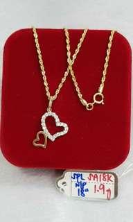 18k Necklace W/ Pendant