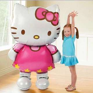 Instock - 101cm tall hello kitty balloon, baby infant toddler girl children cute chubby 123456789 lalalala