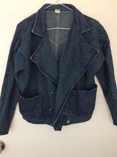 large collar denim jacket