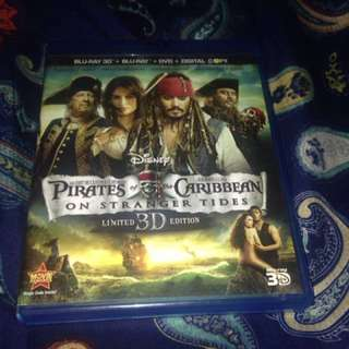 Blue-Ray 3D DVD Pirates of the Caribbean on Stranger Tides Original