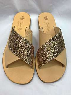 Handmade Tuscany sandals with glitter - 100% Made in Italy 🇮🇹