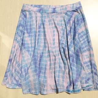 Topshop Tiedye Pastel Skirt