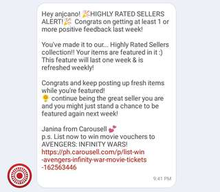 HIGHLY RATED SELLERS! Thankyou po!!!