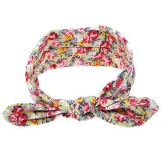 Instock - vintage floral headband, baby infant toddler girl children cute chubby 123456789 lalalala