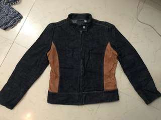 """REPRICED!! """"Versace"""" Denim And Leather Motorcycle Jacket"""