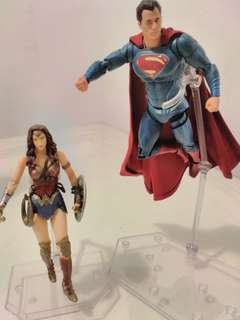 Wonder Woman and Superman Action Figures