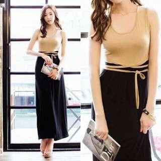 🍃Long Waisted String Dress
