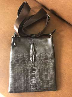 Original Crocodile Skin Leather Body Bag