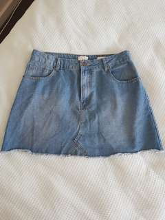 size 14 A line mini skirt new no tags