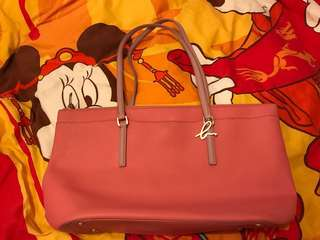Agnes b leather handbag