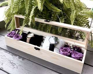 Preserved Flower Watch / Accessory Box