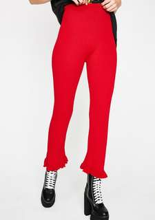 Nastygal red pants (brand new in box)