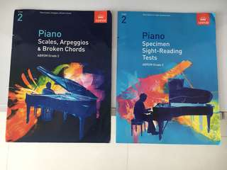 Grade 2 piano scales and sight reading books