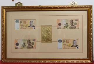 $20 notes with frame