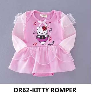 CLEARING STOCK hello kitty romper dress pink colour long sleeve princess dress for baby toddler 6-24months age group