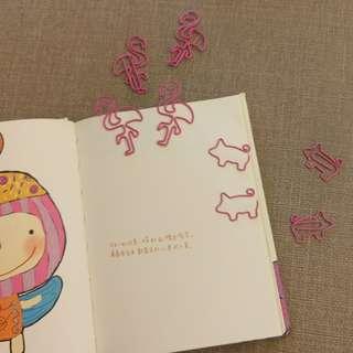 🚚 紅鶴/小豬 造型迴紋針