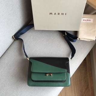 Free shipping-免运费 Marni Trunk cow leather bag-Free delivery