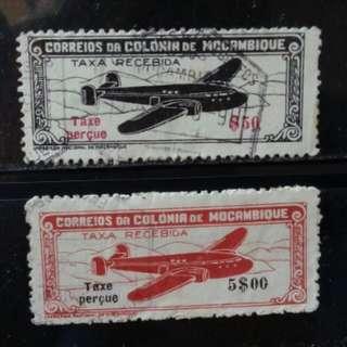 [lapyip1230] 葡屬莫爽比克 1948年 航空郵票 VFU