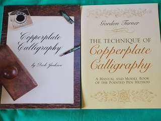 Copperplate calligraphy guidebooks