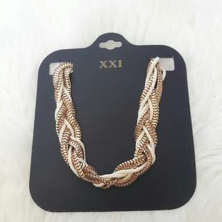 New f21 braded necklaces