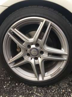 18 inch AMG rim original with tyre
