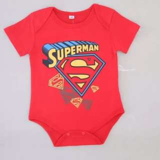 Brand new baby boy romper in red toddler children superhero superman cotton material
