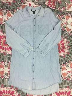 Polo denim dress plus size or maternity