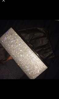 Diamanté clutch