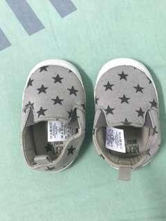 Grey Star Pram Slip-On Shoes