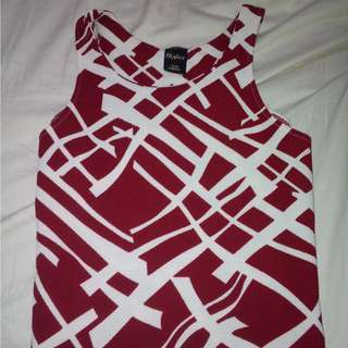 Red martinee top